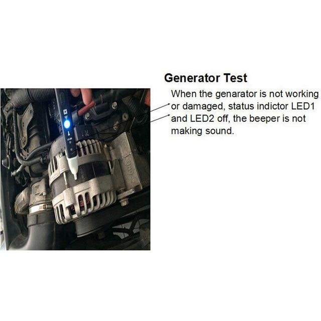 MST 101 Penna di Prova Auto Bobina di Accensione Spina Auto Lgnition Penna di Rilevamento del Sistema LED Lampeggiante Messaggio Vocale di Controllo Veloce Circuito Strumento