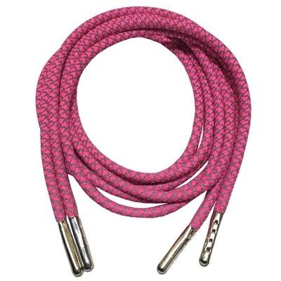 3м Reflective Runner круглые шнурки для ботинок, длина с серебряными наконечниками с металлическим наконечником с фактурой советы - Цвет: Hot Pink