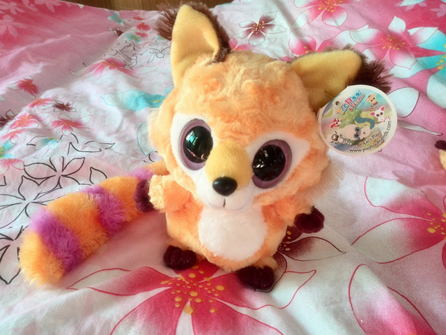 "Free shipping Baby Toy Yoohoo Friends Stuffed Plush Iberian lynx toy - 8"" Libby, Lenny,Fabrics Stuffed big eyes soft Toy"