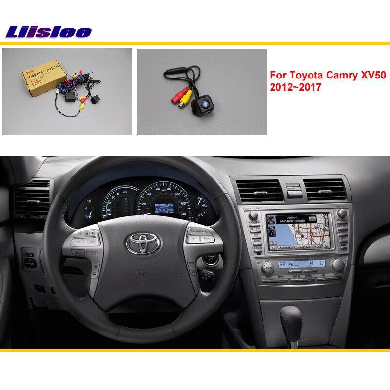 Liislee Toyota Camry XV50 2012 ~ 2017 auto tagaosa tagurpidi kaamera komplektid / RCA & originaalekraan ühilduv / parkimiskaamera