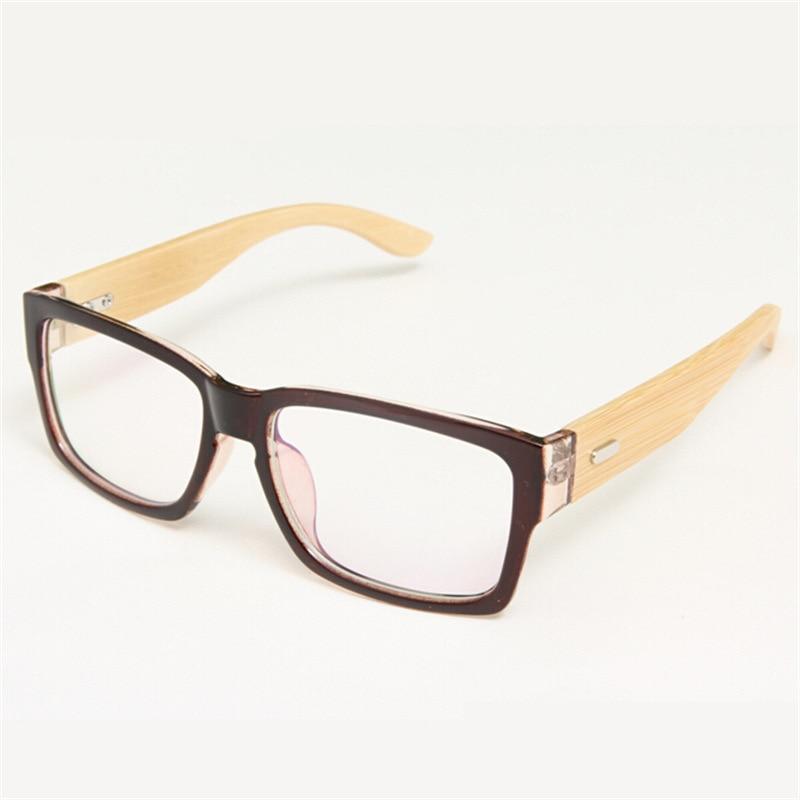 93e6fc1fe7606 100% Artesanal de Bambu Pernas Simples Espelho Do Vintage óculos Armações  de Óculos de Olho para As Mulheres Homens Marca Quadros Miopia Óculos Oculos  de .