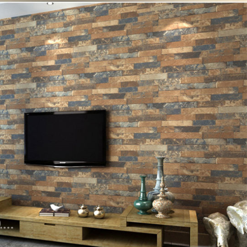 2016 3d stone wallpaper waterproof coffee wall paper for 3d brick wall covering