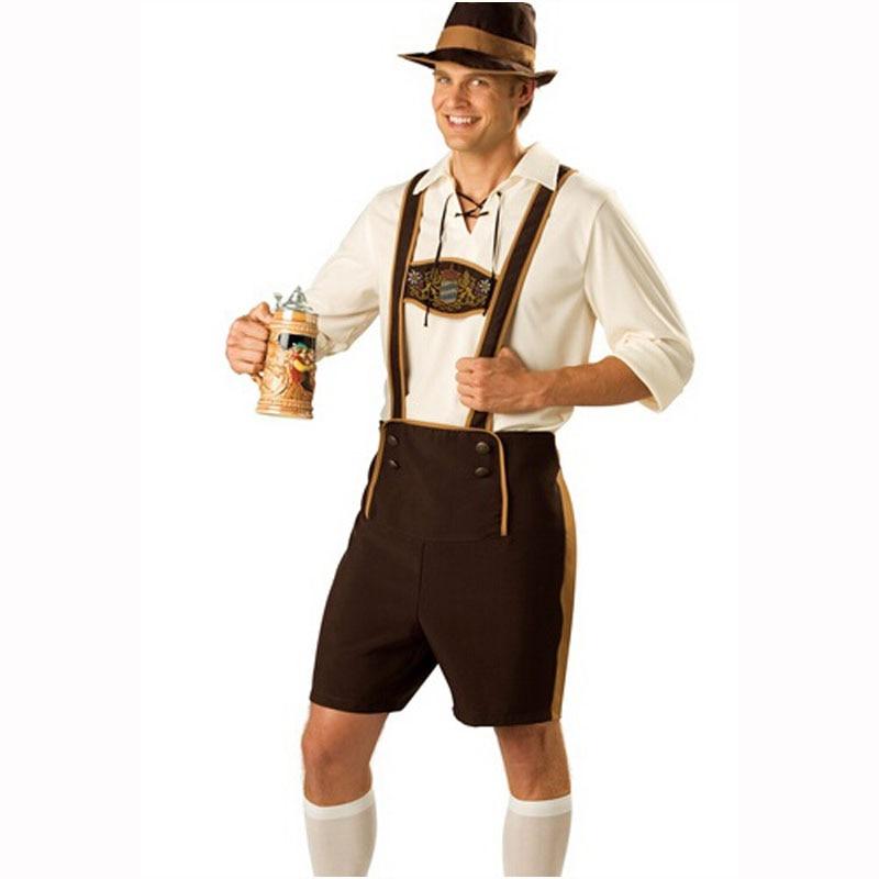 2017 New Plus Size Oktoberfest Costume Bavarian For Octoberfest German Festival Beer Cosplay Halloween Costumes For Men Adult