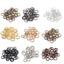 200pcs/lot 6/8mm Copper Open Jump Rings & Split Rings Gold/Black/Silver/Antique Brone Plated Connectors for Jewelry Making F309 цена и фото