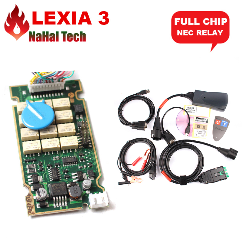 Prix pour A + + Lexia3 V48 Plein Puce 921815C NEC Relais Lexia 3 Diagbox V7.83 7.83 Lexia-3 PP2000 V25 pour Ci-treon/Peu-geot De Diagnostic-outil