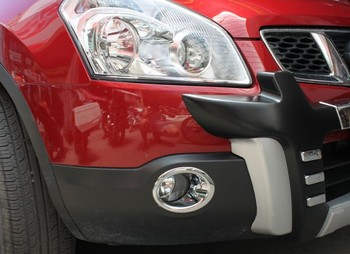 All bright chrome front fog light lamp cover trim for nissan qashqai dualis 07 09 2007.jpg 350x350