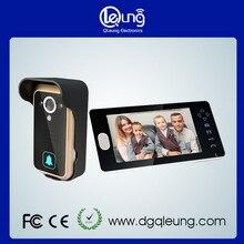 2.4G QLEUNG Video Sin Hilos Teléfono de La Puerta de Intercomunicación Timbre de La Cámara 7 Monitor LCD Panel Táctil de teléfono de La Puerta de Control de Acceso