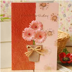 Handmade Flower Greeting Cards3d Paper Flower Cards For All Purpose