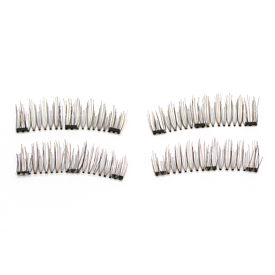 HaHaLash Magnetic Eyelashes 6D eype with three tiny magnets Natural curl Hand Made Factory Sell Eyelashes extention-HH-52HB-3
