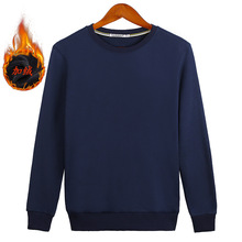 Man Boys Plus Size S-8XL Velvet Sweatshirts Wine Red Black Gray White Navy Blue Solid Pure Color couple clothes ZIIART
