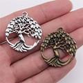 WYSIWYG 3 teile/los Charms Baum DIY Schmuck Erkenntnisse 2 Farben Antike Silber Farbe Antike Bronze Überzogene 29x32mm baum Charme