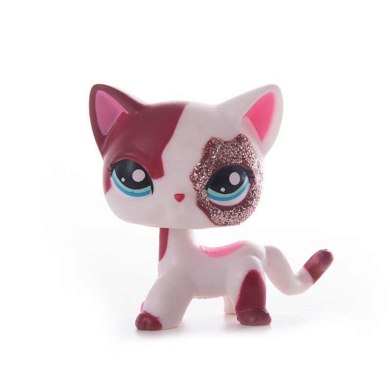 Lps antigua colección tienda de mascotas juguetes para gatos Lps envío gratis gato de pelo corto acción figura de pie Cosplay juguetes niños mejor regalo
