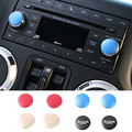 Unique CD Switch Button Knob Cover ABS CD Volume Switch Button Adjust Control Cover Trim for Jeep Wrangler Compass Patriot 11+