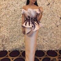 Formal Evening Dress Off Shoulder Vestidos De Festa Elegant Evening Gown Appliques Sleeveless Custom Made robe de soiree
