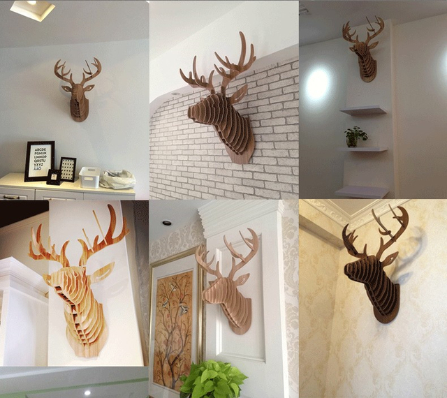 3d diy wall deercreative home decor decorationschristmas decor8 colors of - Christmas Moose Home Decor