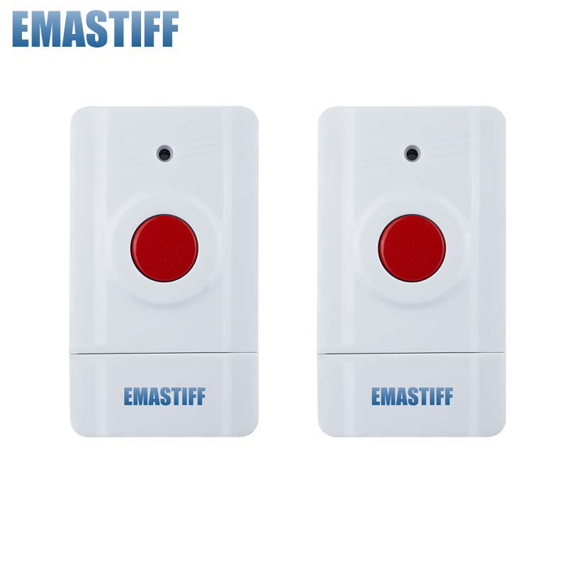 free shipping! Wireless Emergency Panic Button For Our Alarm System 433MHz 2 PCS Key Alert 433MHz 2 receivers 60 buzzers wireless restaurant buzzer caller table call calling button waiter pager system