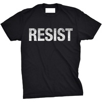T Shirt Free Shipping Men S Crew Neck Crazy Dog T Shirts Mens Resist Tee United