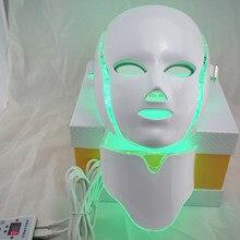 7 couleur coloré LED Beauté Masque photoactif de coiffure l'appareil sans aiguille beauté masque visage masseur