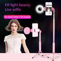 3 en 1 Selfie bâton portable trépied avec lumière de remplissage Bluetooth télécommande extensible monopode universel pour iPhone Sumsang Huawei