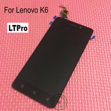 LTPro Negro/Blanco/Oro Pantalla LCD Asamblea Digitalizador Pantalla Táctil Sensor de Vidrio de Alta Calidad Para Lenovo Teléfono K6 reemplazo