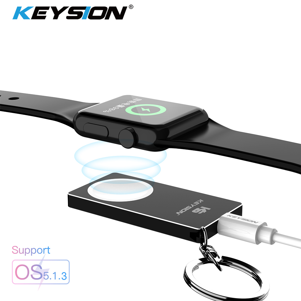 KEYSION Magnetic Wireless Charger for Apple Watch Series 4 3 2 1 Metal Acrylic Wireless Charging Support watch OS 5 1 3 System in Mobile Phone Chargers from Cellphones Telecommunications