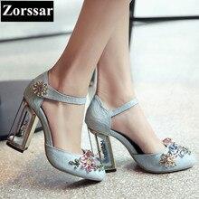 Été femme chaussures de luxe marque strass talons hauts sandales femmes chaussures de mariage 2017 NOUVEAU velours femmes bride à la cheville pompes chaussures
