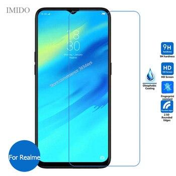 Перейти на Алиэкспресс и купить 2 шт. закаленное стекло для Realme 6 6s 6i X2 Pro XT 5S 5i X 5 3 C3 C2 2 3I Защитная пленка для экрана на Real Me C 3 Realmi