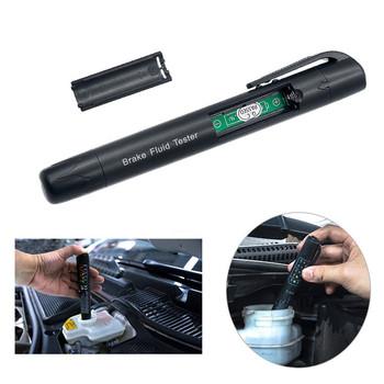 CARPRIE Tester płynu hamulcowego 5 LED samochód Auto motoryzacyjne narzędzie do testowania dla DOT3 DOT4 narzędzie do testowania samochodów d24 tanie i dobre opinie Brake Fluid Tester Car Testing Tool 6 8cm Plastic metal Inne Other black