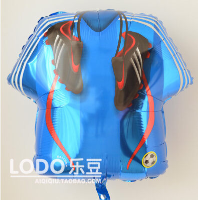 Toys  Gifts Anagram Big Foil Balloons Birtyday Party Decoration Printed soccer jersey shoes sports balloon size 61*56cm