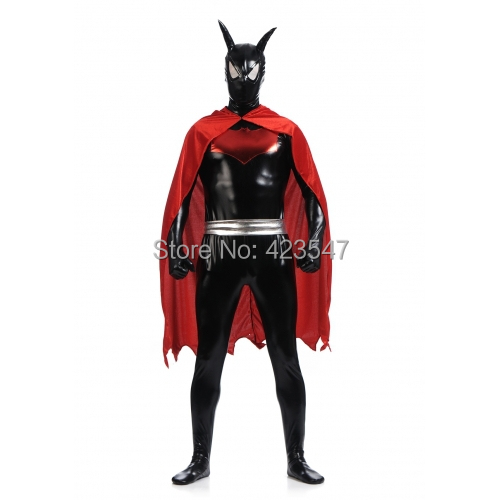 Black and Red Batman Beyond Costume Batsuit Cosplay Halloween party Suit free shipping
