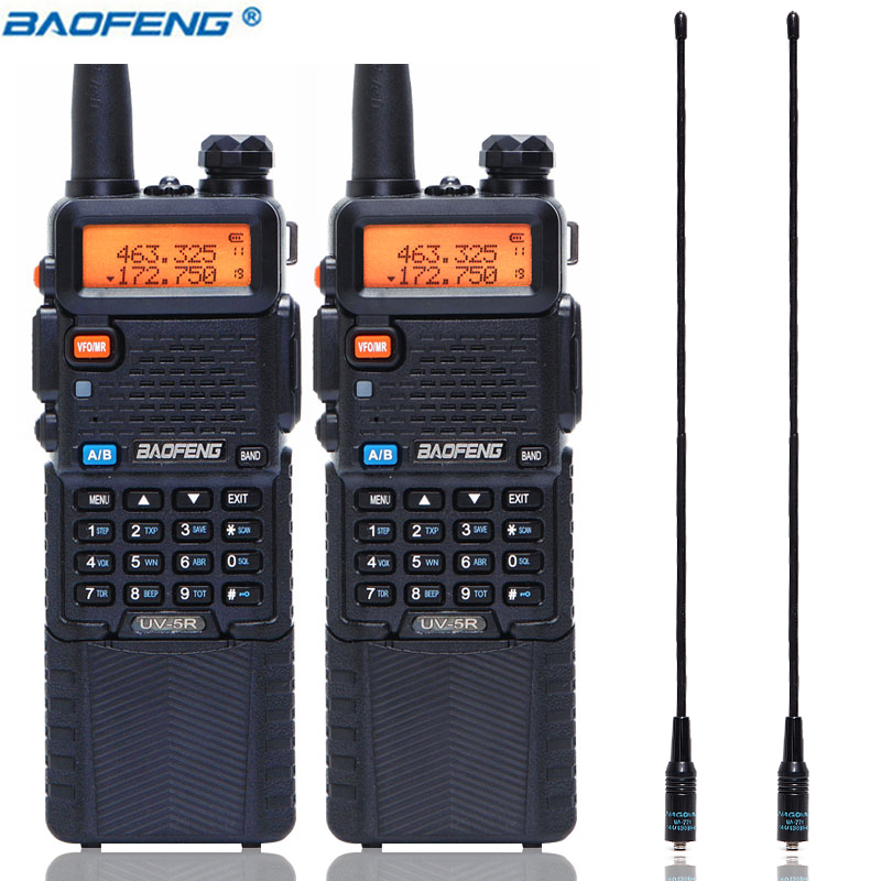 BaoFeng UV 5R 5W with 3800mAh long Li ion Battery two way cb ham radio Dual