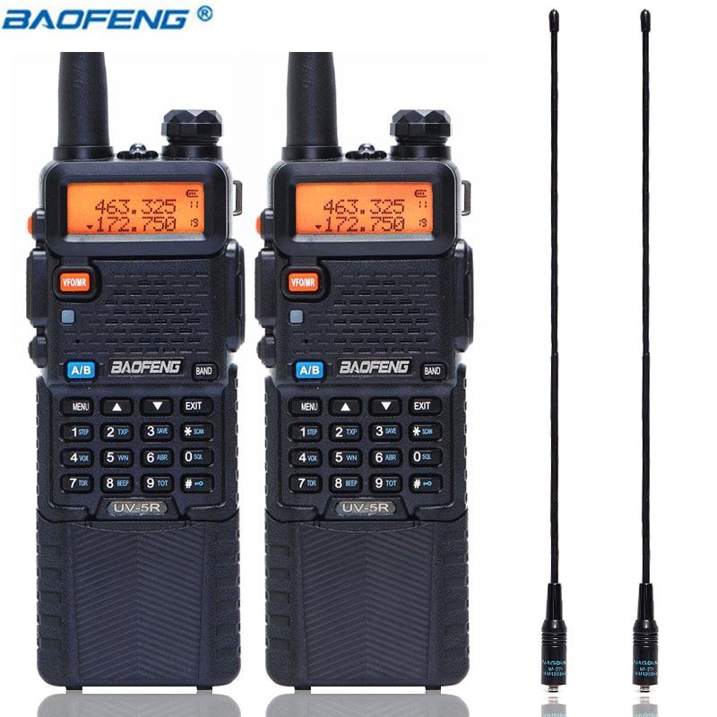 BaoFeng UV 5R 5 W z 3800 mAh długi akumulator litowo jonowy dwukierunkowy cb ham radio dwuzakresowy VHF UHF UV5R transceiver Walkie Talkie w Krótkofalówki od Telefony komórkowe i telekomunikacja na AliExpress - 11.11_Double 11Singles' Day 1
