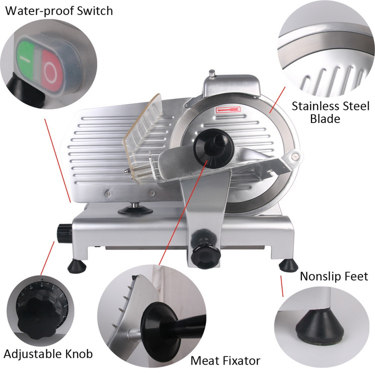 12 Commercial semi auto Meat Slicer Lamb Beef Meatloaf 0.2-15mm Frozen Meat Cutting Machine 18 Vegetable Mutton Rolling Mincer