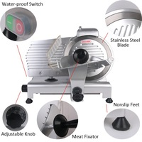 12 Commercial Semi Auto Meat Slicer Lamb Beef Meatloaf 0 2 15mm Frozen Meat Cutting Machine