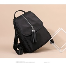 2019 Trend Light Oxford Cloth Woman Package Both Shoulders Travel Backpack Leisure Time Bag