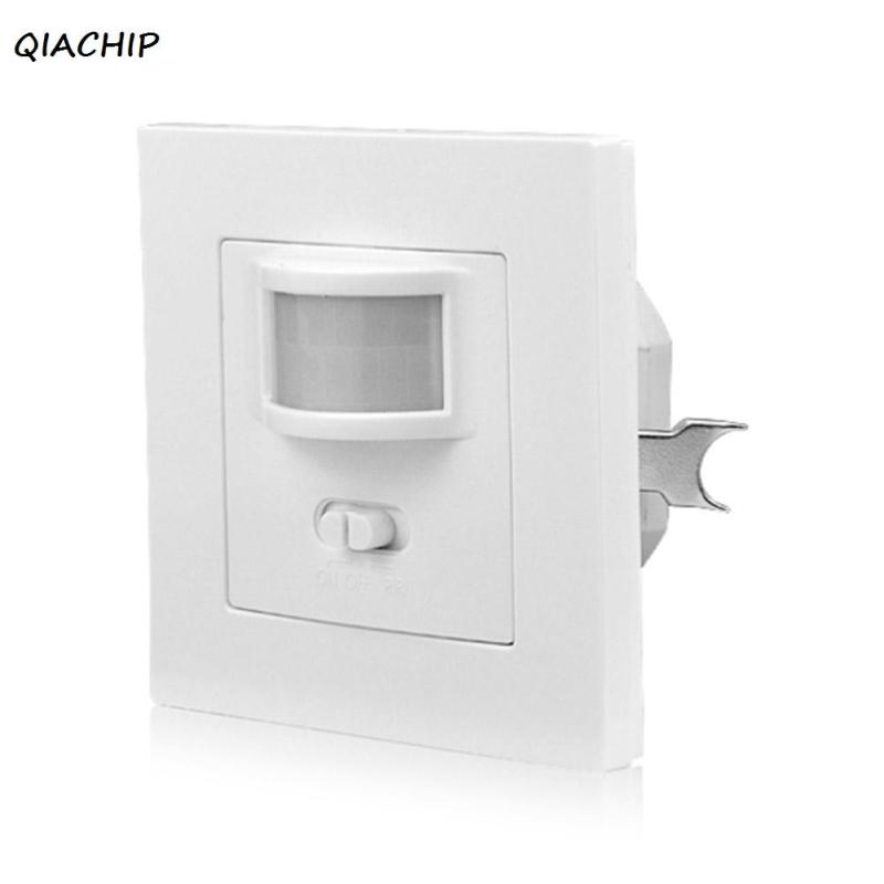 QIACHIP 86 PIR Infrared Motion Sensor Smart Light Switch Recessed Wall Module With ON OFF 140 Degrees Human Body Induction H3 indoor led light pir infrared motion sensor switch human body induction save energy with antenna light sensor wholesale pri 100a