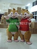 Wysokiej jakości Alvin I Wiewiórki Maskotki Kostium Dorosłych Szie sprzedaży Kostiumy Party Outfit Darmowa wysyłka