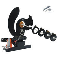Airgun Squirrel Field Target W. 4 Bullseyes' Ring/Also For Airsoft Paintball Shooting