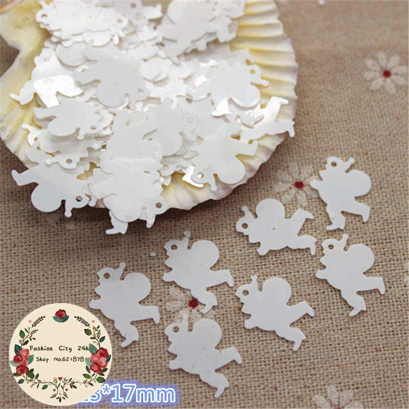 30g/pack 13*17mm White Sant Claus Shape Loose Sequins Paillette DIY Decorative Scrapbooking Accessory
