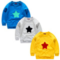 Spring Boys Girls Sweatshirts for 1-6 Years Baby Children Clothes Cotton Casual Boys Girls Sweatshirts Hoodies yellow blue gray