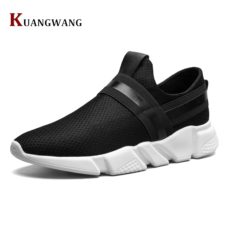 High Quality Men Casual Shoes Fashion Lace Up Air Mesh Shoe Men's 2017 Autumn  Design Breathable Lightweight Walking Shoes E62