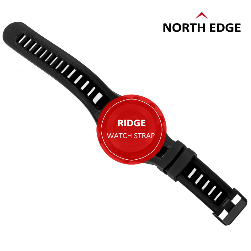 NorthEdge RIDGE watchband font b watch b font Strap Rubber Black strap band sports outdoor digital
