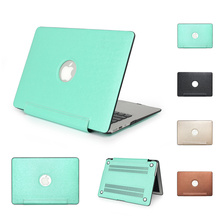 Fashion pu leather surface laptop Case For apple mac Air 11 13 Pro retina Hard Cover macbook