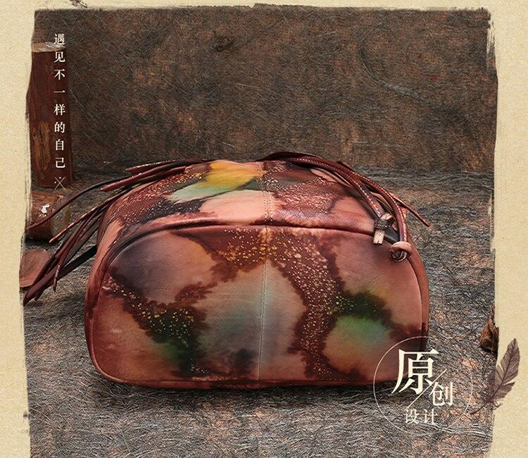 mochila de viagem artesanal couro genuíno senhora ombro