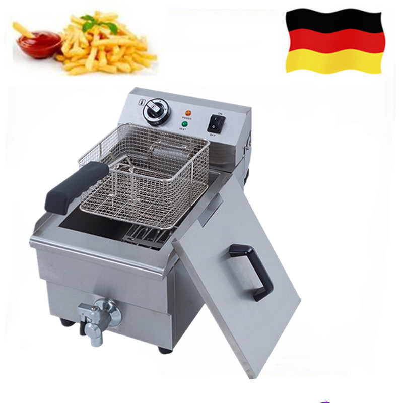 Commercial 10L Single Tank French Fries Deep Fryer Stainless Steel High Quality Deep Fryer with Thermostat пуф french fries