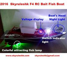 2016 Hot Newest  RC Remote Control bait Fishing Boat Attracting Fish Lamp 6 hours Towing hook controle remoto ship skyrules F4