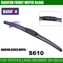 "RAINFUN dedicated car wiper blade for TOYOTA LAND CRUISER 100/200, 24""+22"" car wiper with high quality natural rubber"