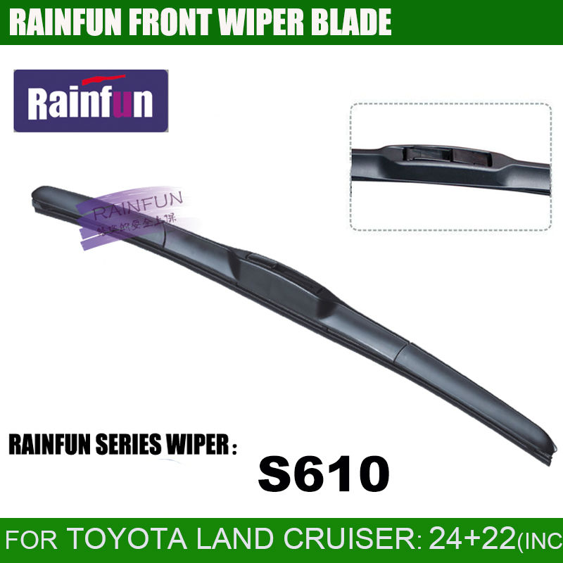 RAINFUN dedicated car wiper blade for TOYOTA LAND CRUISER 100 200 24 22 car wiper with