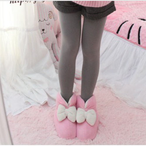 bedroom slippers cute house slippers cute women warm bowknot plush