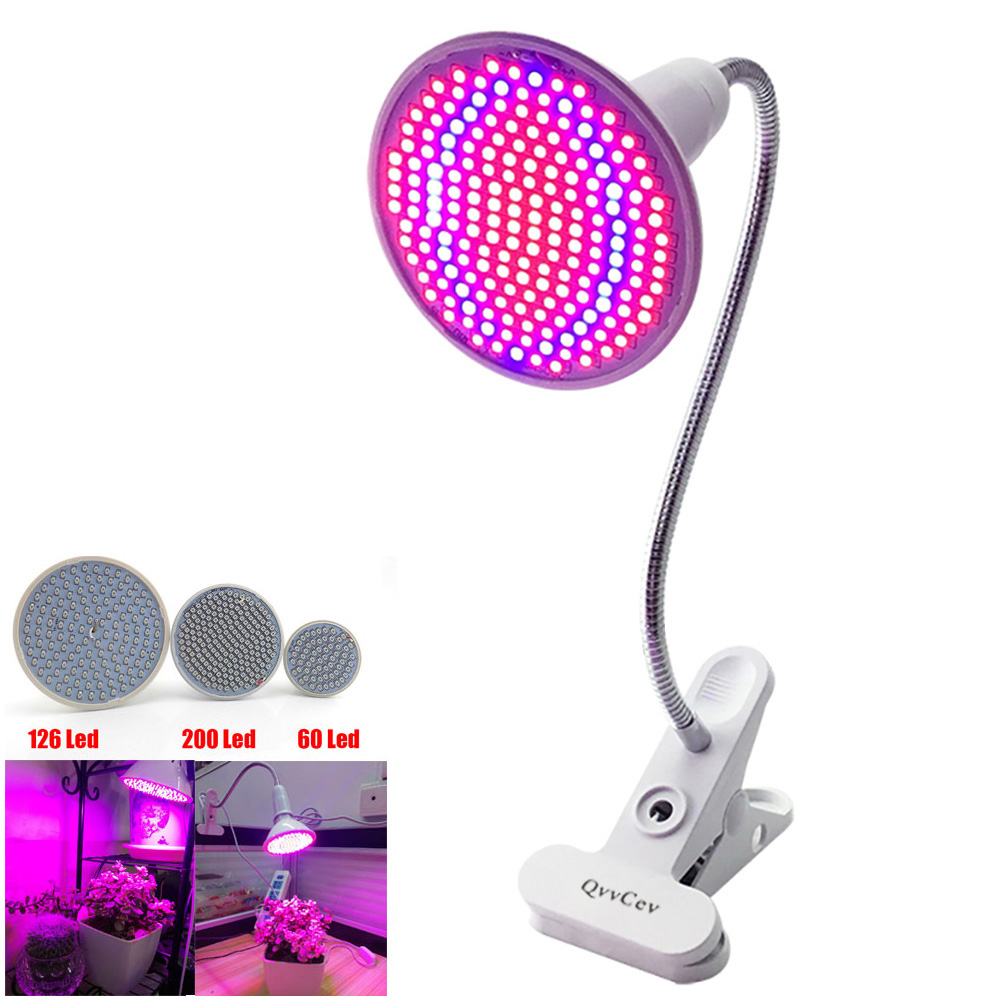 36 60 126 200 led grow light Hydroponic lighting with Clip plants Lamps for flower hydroponics system indoor garden greenhouse